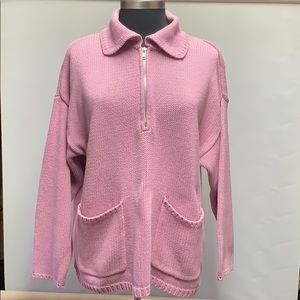 Liz Claiborne Liz Sport 3/4 ZIP Pullover Sweater